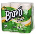 BRAVO Naturally Strong Premium Recycled Paper Towels 6-pack